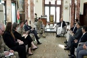 دیدار اشرف غنی با فرمانده ستاد مرکزی ارتش آمریکا