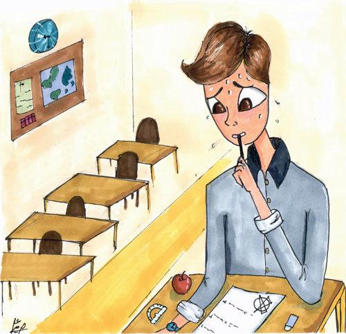 یک روز معمولی در مدرسه
