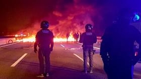 اعتصاب و اعتراض خیابانی در منطقه کاتالونیای اسپانیا