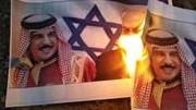 آتش زدن تصاویر پادشاه بحرین و نتانیاهو در مناطق مختلف بحرین