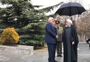اولین حضور ظریف در یک دیدار رسمی بعد از پذیرفته نشدن استعفا