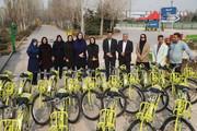تحویل ۱۵ دستگاه دوچرخه به بوستان پردیس بانوان در منطقه ۱۵
