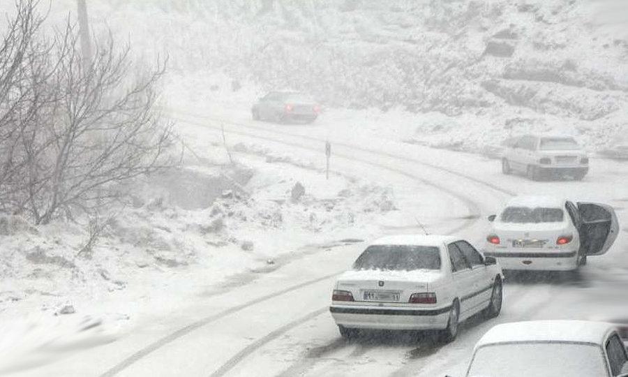 جاده برف چالوس