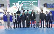 مردان ایرانی بر سکوی قهرمانی تکواندوی جام ریاست فدراسیون جهانی ایستادند