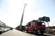 ترخیص و تحویل ۹ دستگاه نردبان آتش نشانی