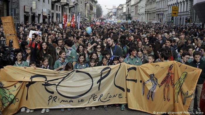 تظاهرات ضد نژادپرستی و خارجیستیزی در ایتالیا