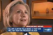 هیلاری کلینتون نامزد انتخابات ۲۰۲۰ نمیشود
