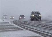 بارش برف در ارتفاعات جاده چالوس و هراز