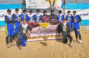 مانگ تهران قهرمان مسابقات هندبال ساحلی بانوان کشور شد