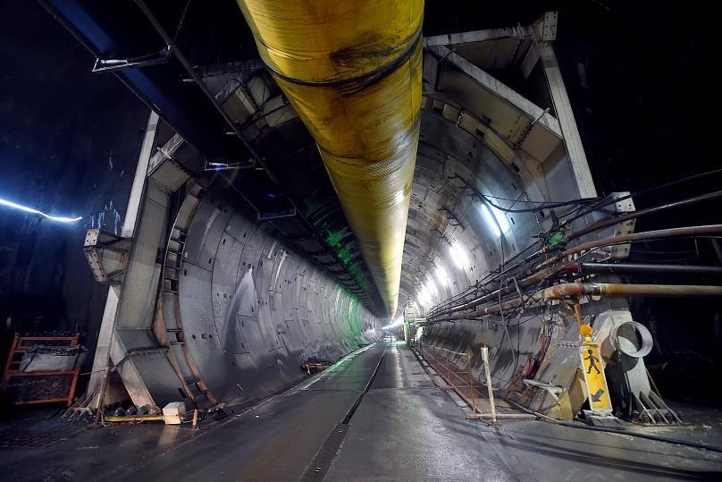 بخشی از تونل خط آهن میان لیون و تورین
