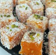 آشنایی با روش تهیه لوکوم هویج، شیرینی ترکیهای مجلسی