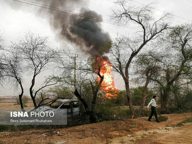 فرسودگی، علت انفجار خطوط لوله گاز در اهواز/ آتش مهار شد