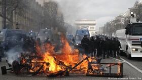 رئیس جمهور فرانسه: آشوب و خشونت را تحمل نمیکنیم