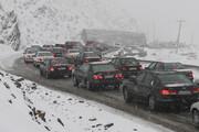 ترافیک در جادههای برفی مازندران