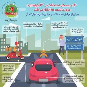 تصادفات در ۳۰ کیلومتری ورودی شهرها