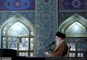 عکس | سخنرانی رهبر معظم انقلاب در حرم مطهر رضوی