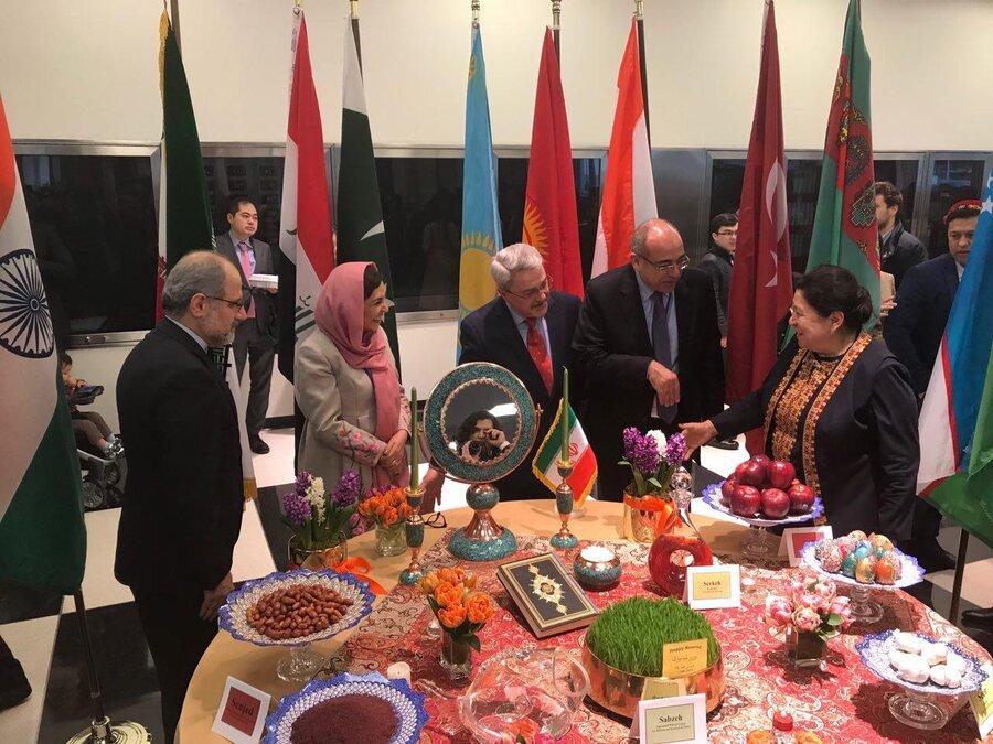 جشنواره غذای کشورهای حوزه نوروز در سازمان ملل برگزار شد