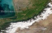 تصاویر ماهوارهای از قبل و بعد سیل آق قلا