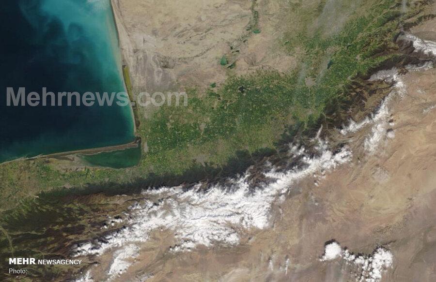 تصویر ماهواره از آق قلا یک روز قبل از سیل