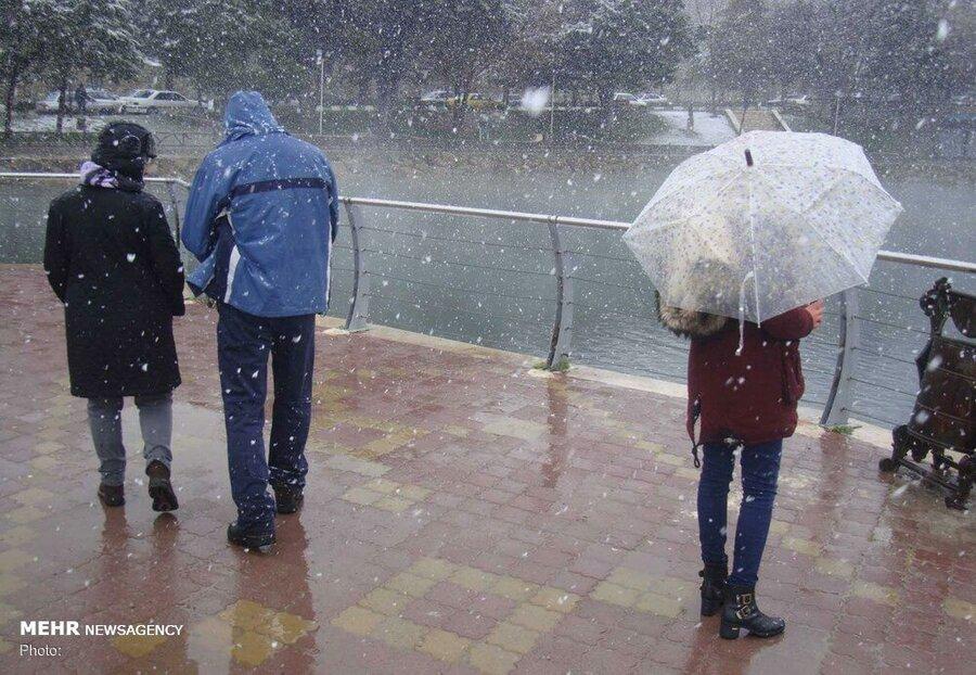 برف و باران اردبیل را فرا میگیرد/ کاهش ۱۴ درجهای دمای هوا