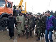 یگانهای ارتش در دروازه قرآن شیراز مستقر شدند
