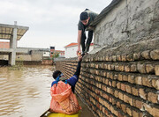 امدادرسانی ملی پوشان قایقرانی به سیل زدگان گلستان