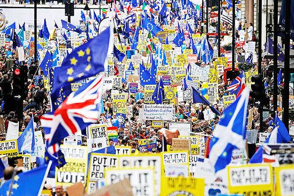 لندن برگزيت تظاهرات