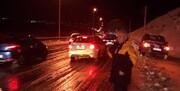 امدادرسانی به مسافران گرفتار در جاده دماوند | هراز مجدد باز شد