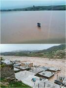 شهر معمولان در لرستان زیر آب رفت
