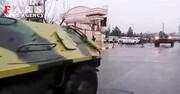 کمک رسانی؛ نفربرهای ارتش در خیابانهای کرمانشاه