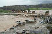 خرمآباد   پل کشکان تخریب شد