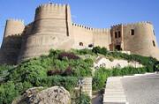 خسارت سنگین به ابنیه تاریخی لرستان | ریزش ضلع غربی تپه قلعه فلکالافلاک