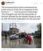 کمک ۱.۲ میلیون یورویی اتحادیه اروپا به سیلزدگان ایران