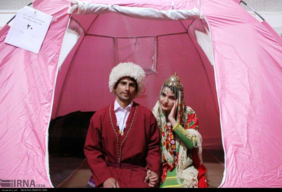 عروسی در سیلاب؛ زندگی در آق قلا و گمیشان جریان دارد