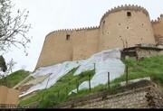 قلعه فلکالافلاک بعد از بارندگی و سیل اخیر