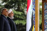 تصاویر استقبال رسمی روحانی از نخستوزیر عراق