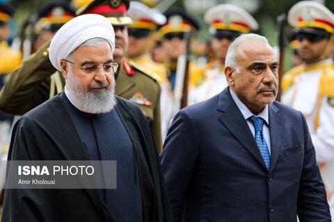 استقبال رسمی روحانی از عادل عبدالمهدی، نخست وزیر عراق