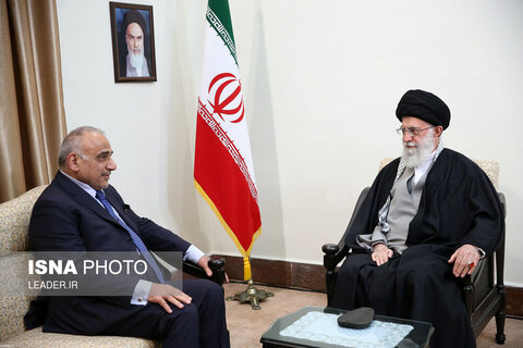 دیدار نخست وزیر عراق و هیات همراه با مقام معظم رهبری