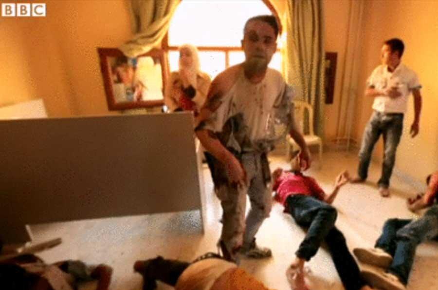 تصاویرساختگي بیبیسی از حملات شیمیایی جعلي در سوريه