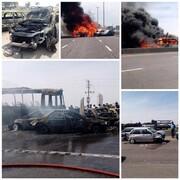 تصادف در آزاد راه ساوه - تهران با ۶ کشته و ۴ مجروح