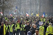 از سرگیری اعتراضات مردم فرانسه در بیست و دومین شنبه سیاه