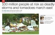 سی ان ان: توفان زندگی ۱۰۰ میلیون آمریکایی را تهدید میکند