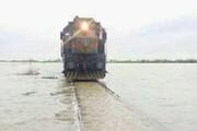 سیلاب راه آهن اهواز - خرمشهر را مسدود کرد