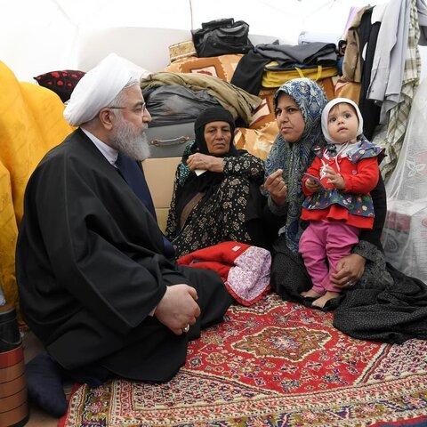گزارش تصویری از سفر رئیس جمهوری به مناطق سیلزده