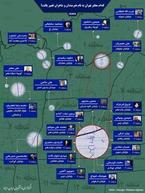 اینفوگرافی | کدام معابر تهران به نام هنرمندان و شاعران تغییر یافت؟