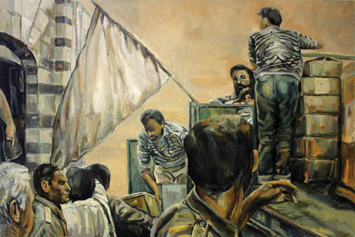 نقاشیهای جسور بر ديوار پرديس ملت