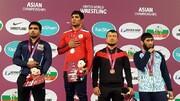 کشتی آزاد بزرگسالان قهرمانی آسیا؛ ۳ طلا و ۲ برنز در روز اول