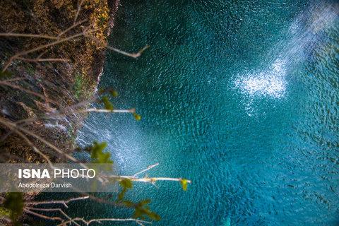 نمای بالایی آبشار اصلی تنگ بُراق