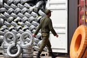 محموله میلیاردی لاستیک قاچاق در شهرضا