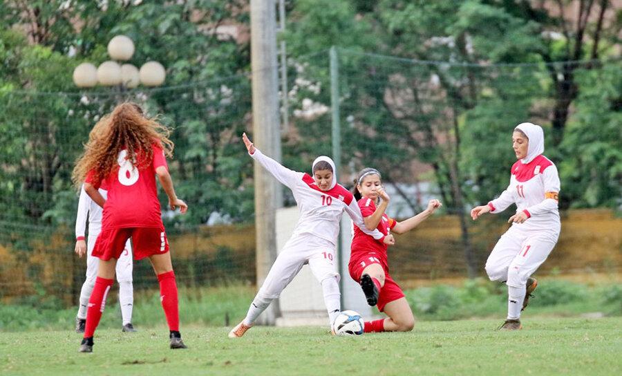 فوتبال دختران ايران و لبنان